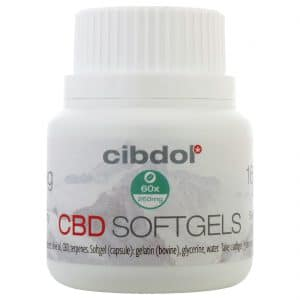 Product image of CBD softgels capsules - Cibdol (60 stuks - 6.4 mg)